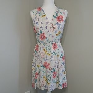 Old Navy Floral Lined Sleeveless Dress S